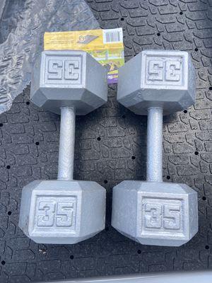 Dumbbells 35lb for Sale in Tampa, FL
