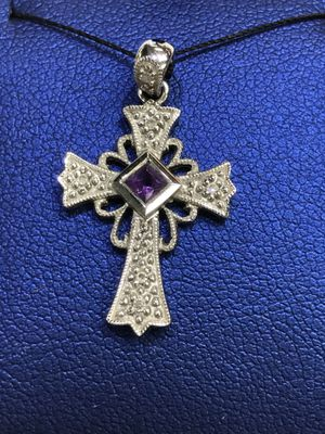 14K White Gold Woman's Cross Pendant with Diamonds $114.99 **Great Buy** for Sale in Tampa, FL