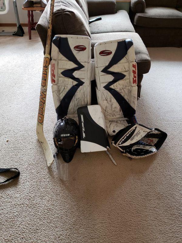 Ice hockey goalie gear