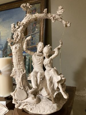 Antique style capodimonte statuette (lovers on swing) for Sale in Anaheim, CA