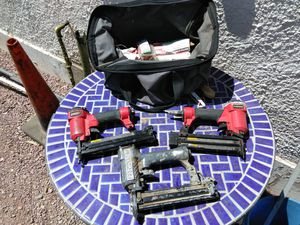 $45 3 Staple Guns and Bag Nails for Sale in Phoenix, AZ