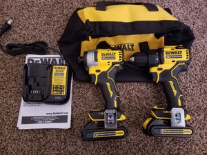 Dewalt ATOMIC 20-Volt MAX Lithium-Ion Brushless Cordless Compact Drill/Impact Combo Kit for Sale in Modesto, CA