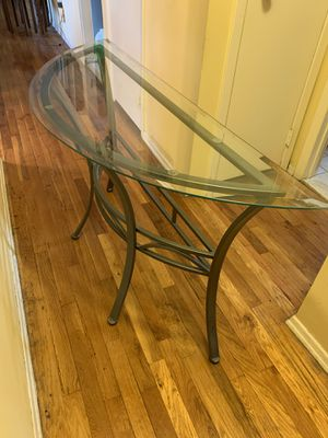 Glass and chrome console table for Sale in West Hempstead, NY