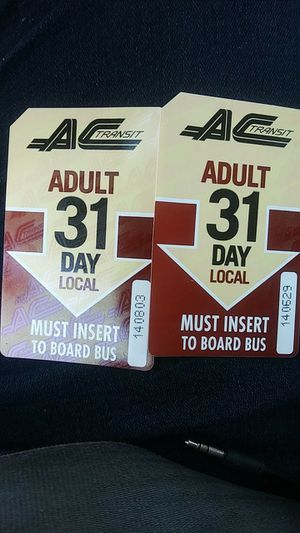 A.C. BUS PASS MONTHLY for Sale in Richmond, CA