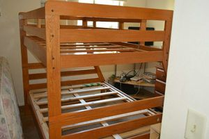 used bunk bed frame mattress not included for Sale in Seattle, WA
