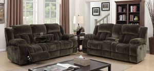 Grey Reclining Sofa + Loveseat for Sale in Fresno, CA