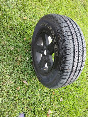 255/65/17 Never used Jeep Wrangler Tire and Wheel for Sale in Clearwater, FL