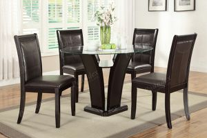 This 5-piece grandly designed dining room set of color and lines . for Sale in Orlando, FL
