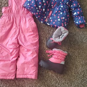 Snow Suit Size 18 Months Snow Boots Size 9 for Sale in Victorville, CA