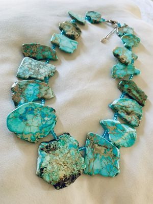 Gorgeous Died Jasper and Sterling Silver Necklace for Sale in Garden Grove, CA