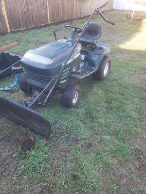 """19.5 hp craftsman tractor with plow """"RUNS GOOD"""" for Sale in Cumberland, RI"""
