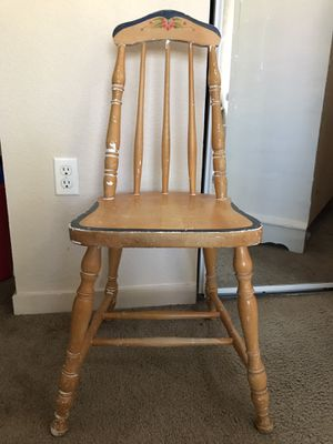 Small wooden chair for Sale in Peoria, AZ
