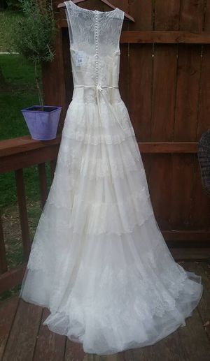 Wedding Dress- Melissa Sweet lace dress with tulle for Sale in McCandless, PA