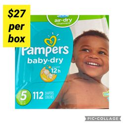 Pampers Diapers Size 5 / 2 Boxes $50 for Sale in Long Beach,  CA