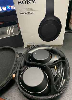 Sony wh-1000x m3 noise cancellation bluetooth headphones for Sale in San Diego, CA