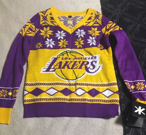 Women's Lakers Christmas Sweater (Large) for Sale in Tustin, CA