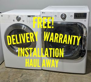 FREE DELIVERY/INSTALLATION/WARRANTY/HAUL AWAY - LG Front Load Washer & Dryer for Sale in Hilliard, OH