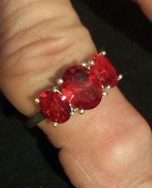 Swarovski Red Crystal Ring in Sterling Silver for Sale in Lawrenceville, GA