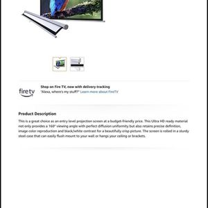Projector And Screen for Sale in West Palm Beach, FL