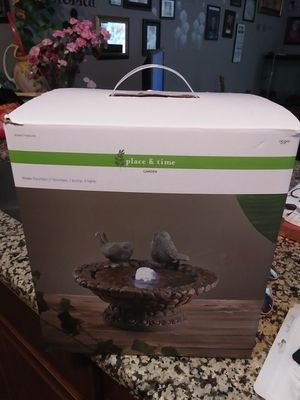 New** bird bath themed table fountain for Sale in MIDDLEBRG HTS, OH