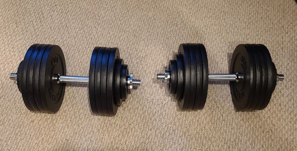 Adjustable Dumbbells (100 lbs each)