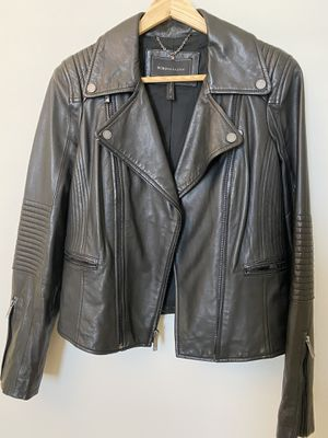 BCBG Leather Jacket - Black - Small for Sale in Washington, DC