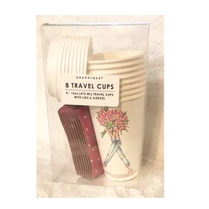 "Graphique 8 Paper Travel Cups ""Flowers"" for Sale in Virginia Beach, VA"