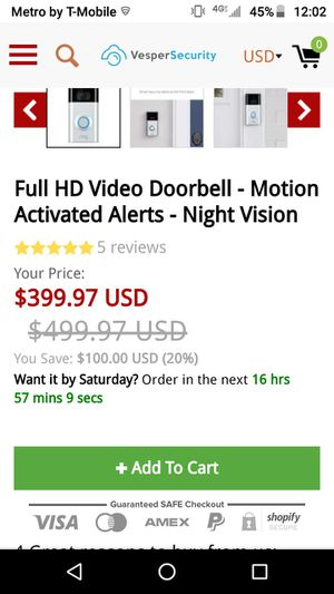 Ring Doorbell 2 for Sale in Independence, MO
