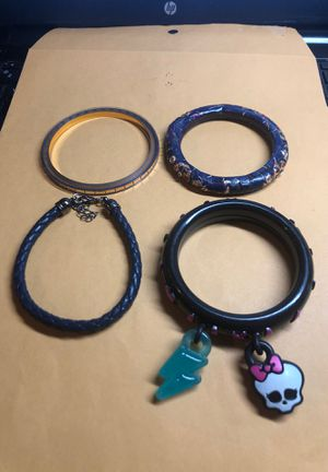 Lot of 4 Ladies Fashion Bracelets Preowned From an Estate for Sale in Berlin, NJ