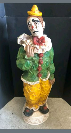 Vintage 1966 Universal Statuary Corp. Large Clown Statue Great Colors for Sale in Lake Worth, FL