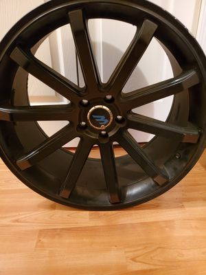 Black Mach brand rims for sale for Sale in UPR MARLBORO, MD
