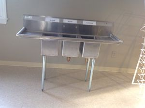 3 compartment sink for Sale in Sudbury, MA