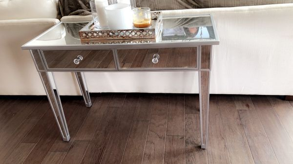 Console or Desk Mirrored Table