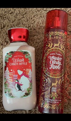 BBW Winter Candy Apple Body Lotion and Spray for Sale in Abilene, TX