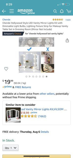 Chende Hollywood Style LED Vanity Mirror Lights Kit for Sale in Chino Hills, CA