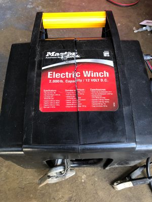 2000 lbs electric winch for Sale in Boca Raton, FL