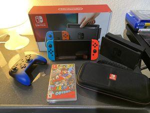 Nintendo Switch, + Control +Case +Super Mario game +128 GN micro Sd all included for Sale in Miami, FL