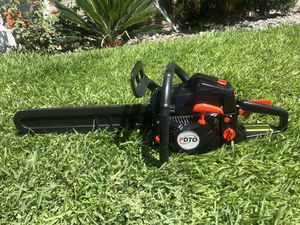 Black 20'' Bar 62CC More Power Gasoline Chainsaw Petrol Powered Wood Cutting Chain Saw 2-Stroke Less Noise Durable for Sale in Rancho Cucamonga, CA