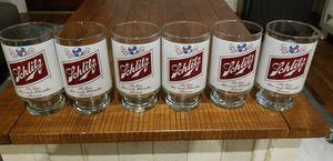 6 Vintage Schlitz beer glasses- advertising, vintage, collectable memorabilia for Sale in Washington, DC