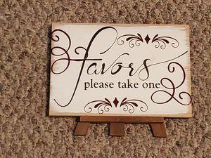 Wedding favor sign for Sale in Lynchburg, VA