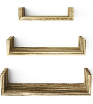 3 Tier Hanging Wall Mounted, Solid Wood Wall Shelves for Sale in Los Angeles, CA