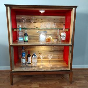Mid Century Modern Liquor Cabinet for Sale in Ken Caryl, CO