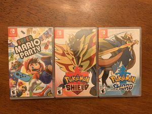 Nintendo Switch Games Mario Party Pokémon Sword Shied Brand New Sealed for Sale in Downey, CA