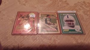 Barry Sanders, Thurman Thomas and Andre Rison rookie cards--- throw in an extra Sanders card for Sale in Tampa, FL
