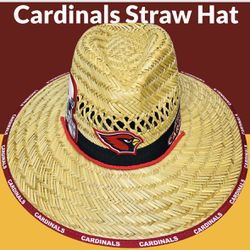 Arizona Cardinals straw hat (Great Gift 🎁) Same Day Shipping If Paid By 3pm (I Also Have Other Team's) for Sale in Phoenix,  AZ