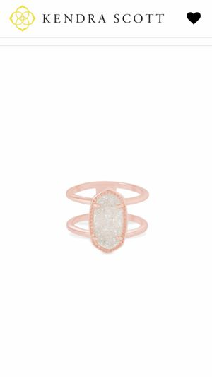 Kendra Scott Rose gold ring Elyse size 6 for Sale in Gig Harbor, WA