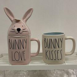 "Rae Dunn ""BUNNY LOVE"" & ""BUNNY KISSES"" Mugs Set for Sale in Hacienda Heights,  CA"