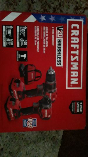 Craftsman Brushless 2 tool kit combo for Sale in Stockton, CA