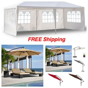 Canopy Party UP Gazebo Event Tent for Outdoor Patio Table Set BBQ EZ Shade Car Port Cover Swimming Pool Chairs Cantilever Hanging Umbrella for Sale in Beverly Hills, CA