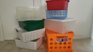 Assorted Storage Boxes - 8 total containers for Sale in Los Angeles, CA